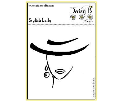 daisy b stamps - stylish lady