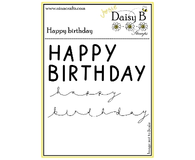 daisy b stamps - happy birthday