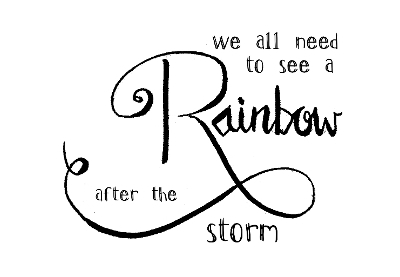 daisy b stamps - rainbow after the storm