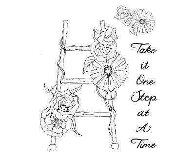 daisy b stamps - one step at a time