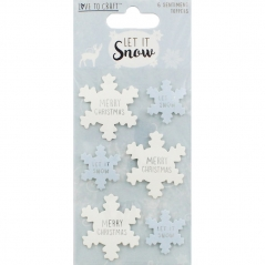 love to craft let it snow sentiment toppers