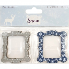 love to craft let it snow wooden frames
