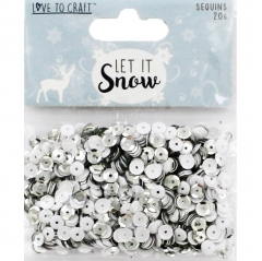 love to craft let it snow sequins