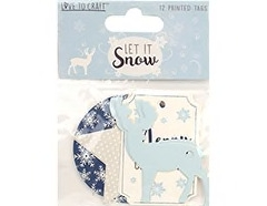 love to craft let it snow printed tags