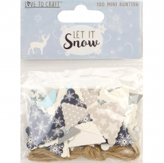 love to craft let it snow mini bunting & twine