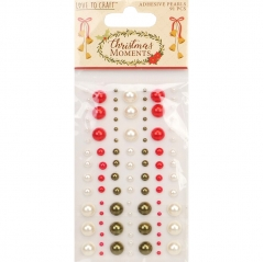 love to craft christmas moments adhesive pearls
