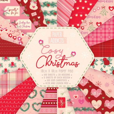 paper addicts 10cm x 10cm paper pad - cosy christmas