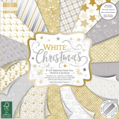 first edition 8x8 paper pad - white christmas