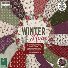 first edition 12x12 paper pad - winter rose