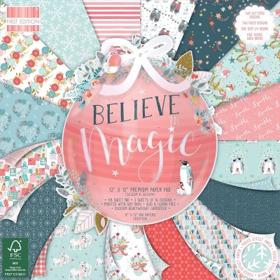 first edition 12x12 premium paper pad - believe in magic