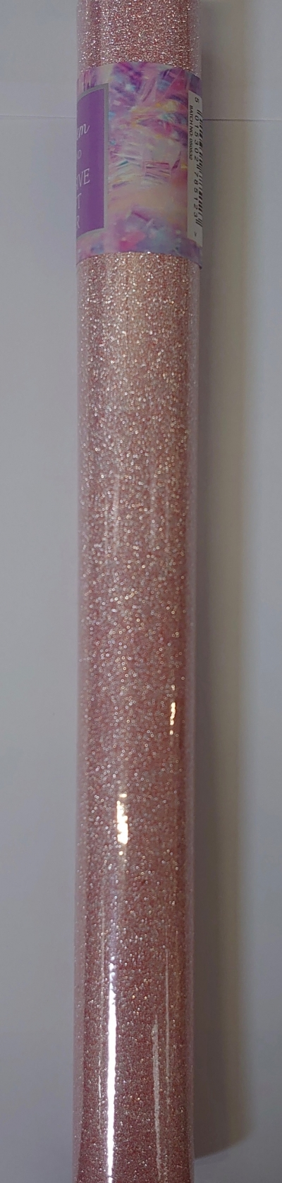 1m non shed adhesive glitter roll - peach