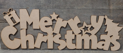 mdf merry christmas sign
