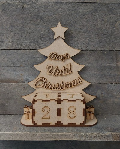 mdf christmas countdown tree
