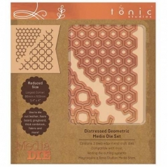 tonic studios media die set - distressed geometric