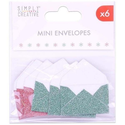 simply creative red & green mini envelopes