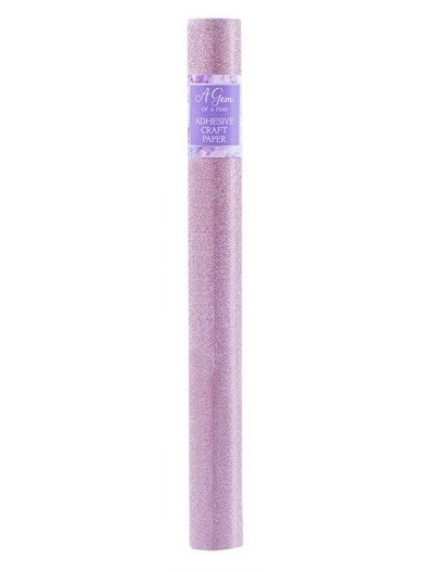 1m non shed adhesive glitter roll - pink