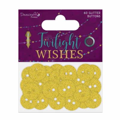 dovecraft twilight wishes glittered buttons