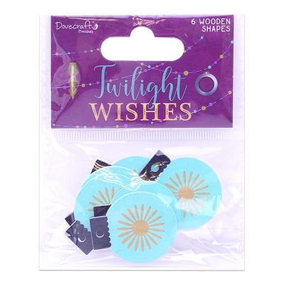 dovecraft twilight wishes wooden shapes - baubles