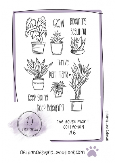 delilah designs the house plant collection a6 stamps